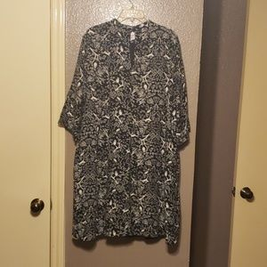 Adorable owl bunny bird print dress. XXL TALL